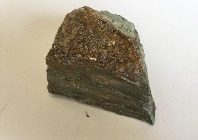 Strati alternati di arenaria e argilla, facies di ambiente costiero (Monti Pisani)