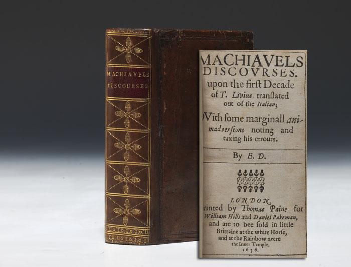 manoscritto inglese dei discorsi di Machiavelli