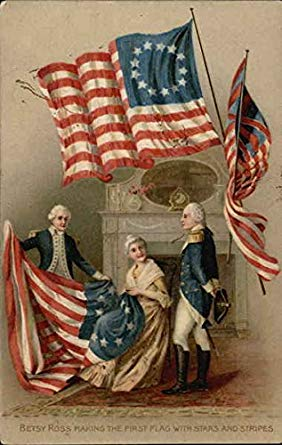 BETSY ROSS AND THE AMERICANA FLAG