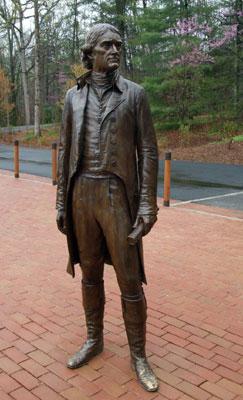 statua di Jefferson situata in Monticello