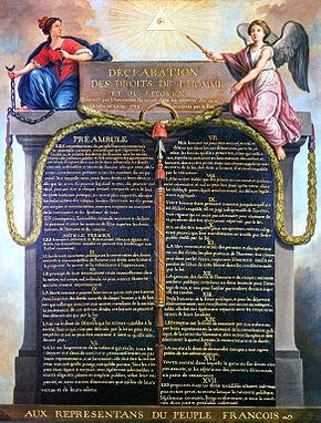 DICHIARAZIONEDEI DIRITTI DELL'UOMO E DEL CITTADINO. 1789