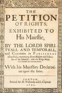 PETITION OF RIGHTS 1628