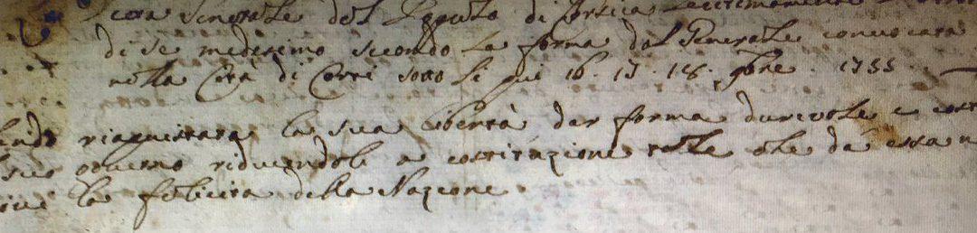 LA COSTITUZIONE PAOLINA DELLA CORSICA. 1755